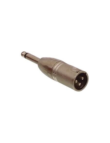 RIDUZIONE XLR MASCHIO A 6,3 mm MASCHIO MONO IN METALLO
